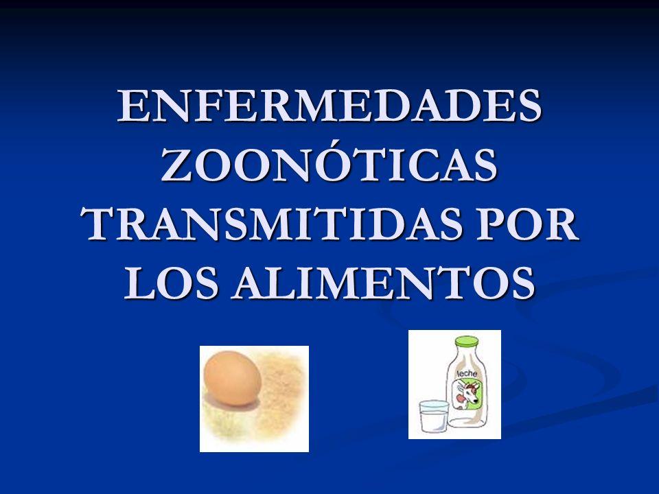 INTRODUCCIÓN 1.¿Qué son las enfermedades zoonóticas que se transmiten por los alimentos .