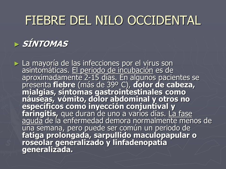 SÍNTOMAS SÍNTOMAS La mayoría de las infecciones por el virus son asintomáticas. El periodo de incubación es de aproximadamente 2-15 días. En algunos p