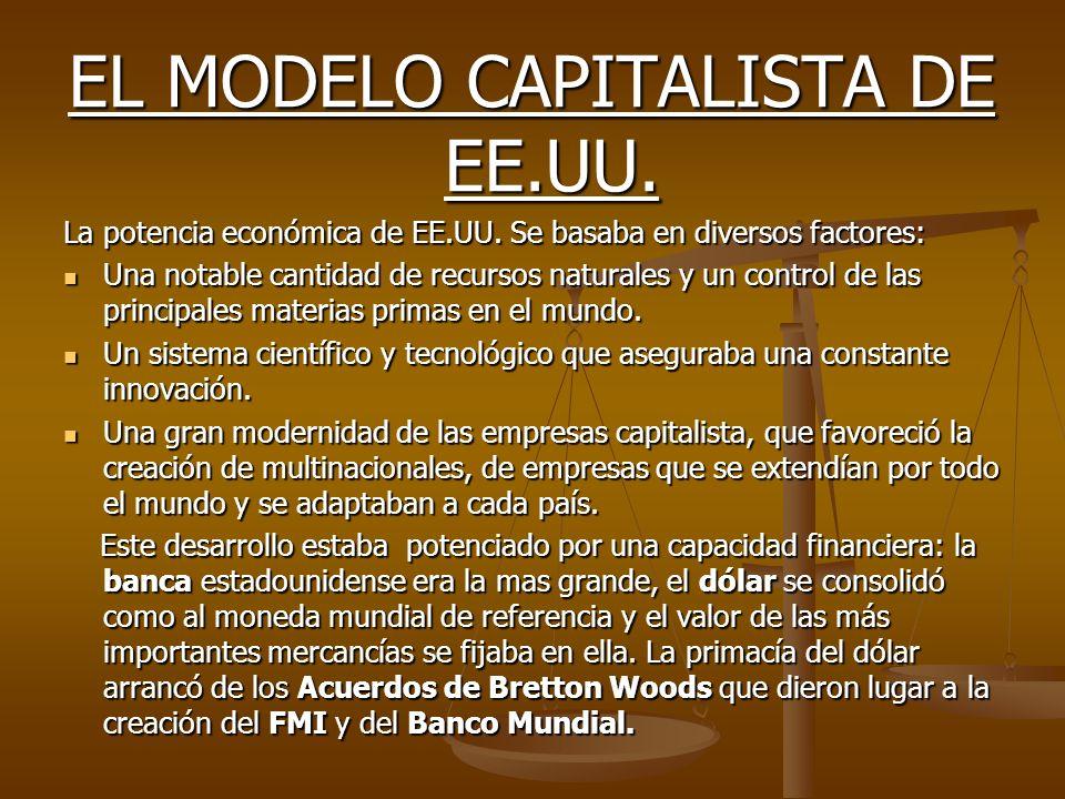 EL MODELO CAPITALISTA DE EE.UU. La potencia económica de EE.UU.