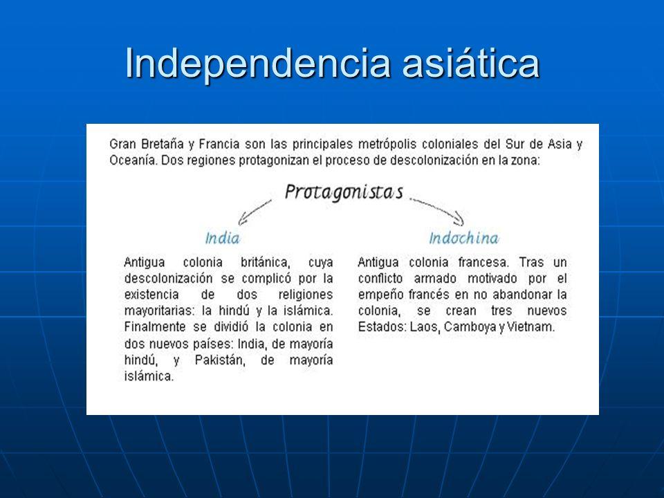 Independencia Asiática India: Es uno de los más antiguos y originales que aparecieron en las antiguas colonias.