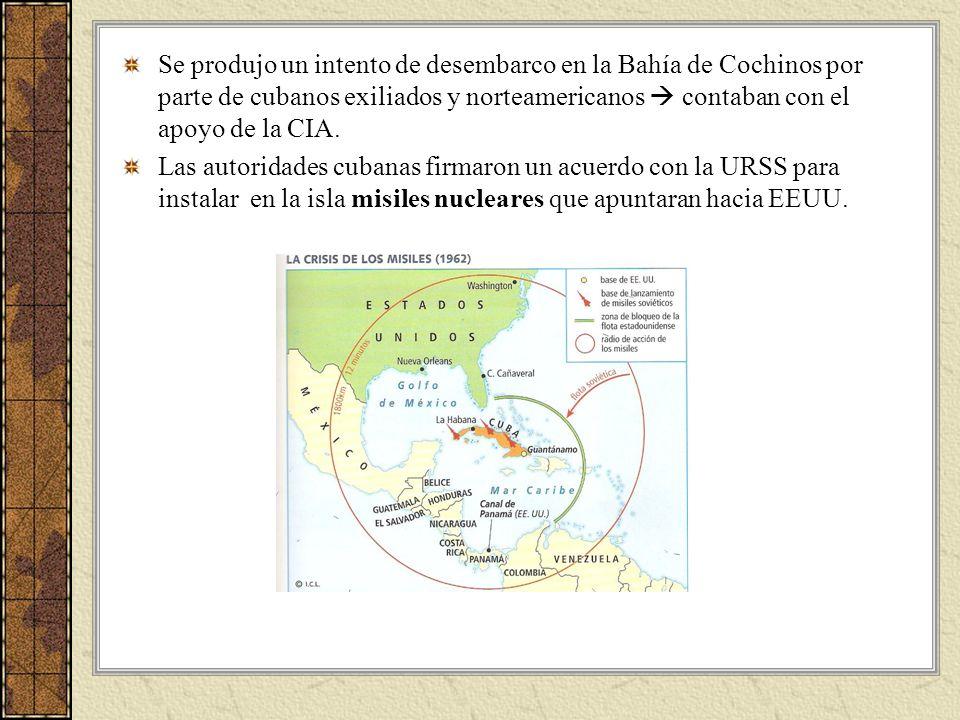 Se produjo un intento de desembarco en la Bahía de Cochinos por parte de cubanos exiliados y norteamericanos contaban con el apoyo de la CIA. Las auto
