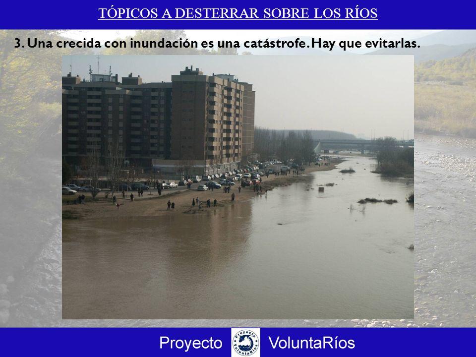 TÓPICOS A DESTERRAR SOBRE LOS RÍOS 3. Una crecida con inundación es una catástrofe. Hay que evitarlas.