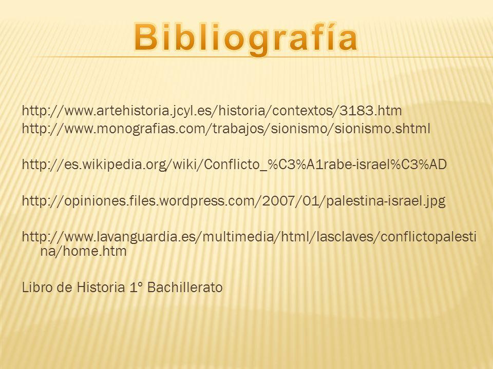http://www.artehistoria.jcyl.es/historia/contextos/3183.htm http://www.monografias.com/trabajos/sionismo/sionismo.shtml http://es.wikipedia.org/wiki/C