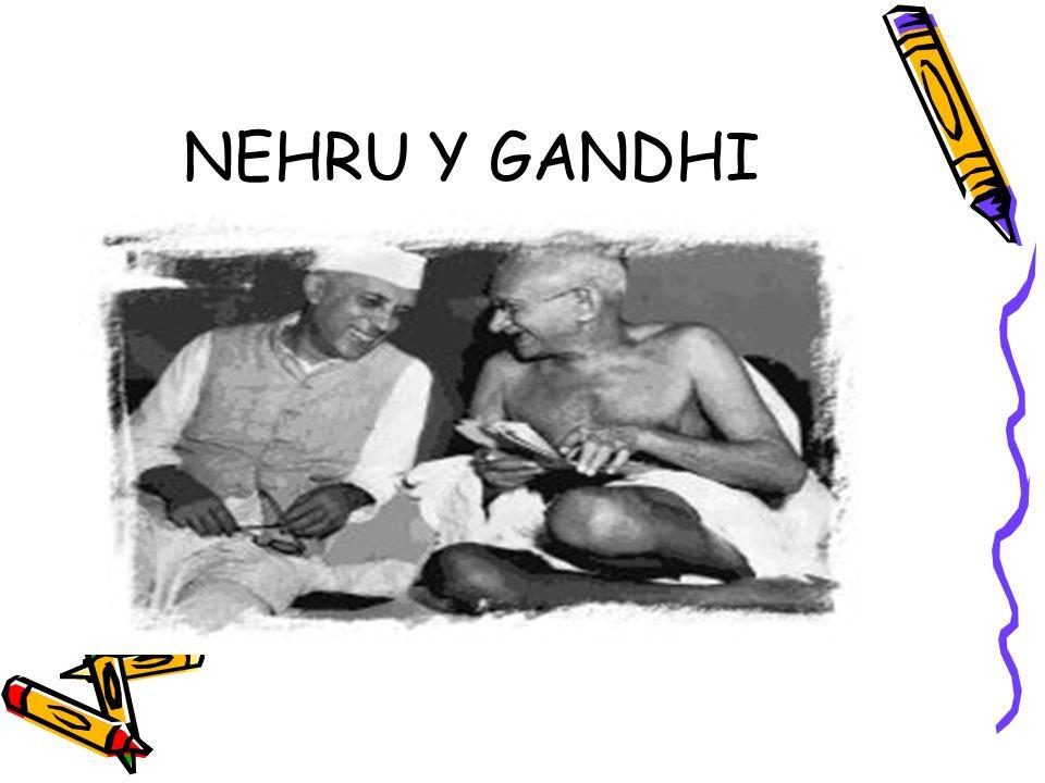 NEHRU Y GANDHI