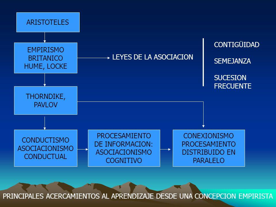 KANT: ESQUEMAS Y CATEGORIAS GESTALT Las leyes de la Percepción y el Pensamiento PIAGET: El desarrollo cognitivo Como construcción Individual del Conocimiento VYGOTSKY: La construcción social Del conocimiento PSICOLOGIA DE LA INSTRUCCIÓN ACTUAL: La construcción en dominios Específicos del conocimiento PRINCIPALES APORTACIONES A LA CONCEPCION CONSTRUCTIVA DEL APRENDIZAJE