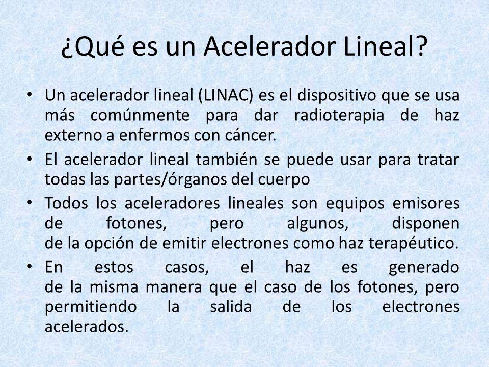 La LINAC no solamente se utiliza en la terapia de radiación de haz externo sino también para la Radiocirugía Estereotáctica y la Radioterapia Estereotáctica del Cuerpo.