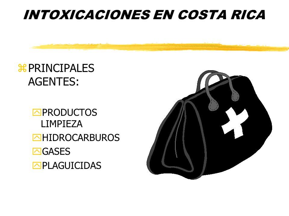 Emergencias en Costa Rica zFase gaseosa principalmente zHidrocarburos zPlaguicidas zCloro y Amoniaco zExplosivos