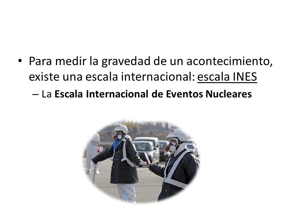 Para medir la gravedad de un acontecimiento, existe una escala internacional: escala INES – La Escala Internacional de Eventos Nucleares