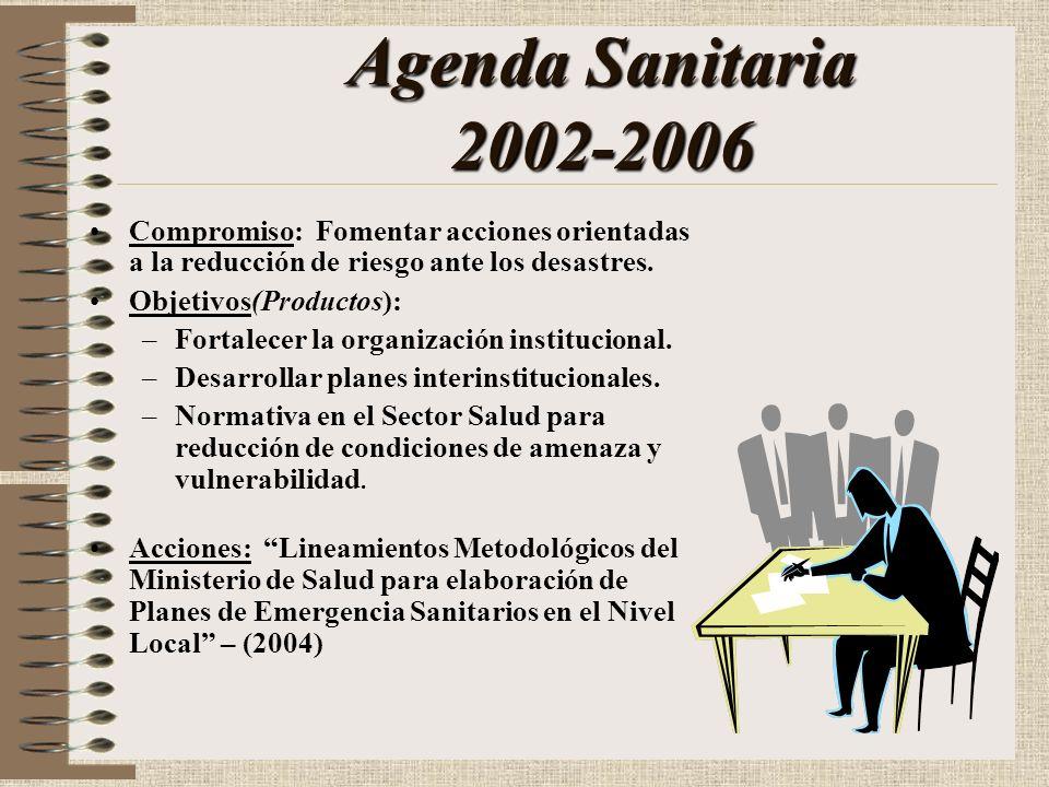 Antecedentes Política Nacional de Salud 2002-2006Política Nacional de Salud 2002-2006 Prevención - Mitigación - Preparación - Respuesta - Rehabilitaci