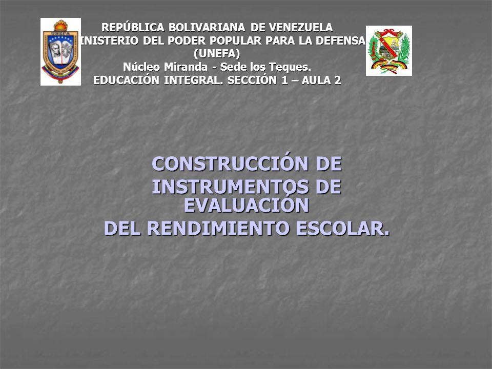 REPÚBLICA BOLIVARIANA DE VENEZUELA MINISTERIO DEL PODER POPULAR PARA LA DEFENSA (UNEFA) Núcleo Miranda - Sede los Teques. EDUCACIÓN INTEGRAL. SECCIÓN