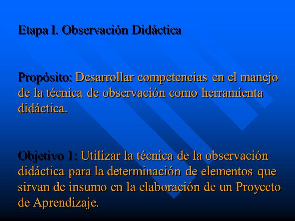 Diagnóstico Elaboración de la guía de observación didáctica: Tipo de planificación que realiza el docente y sus elementos esenciales.