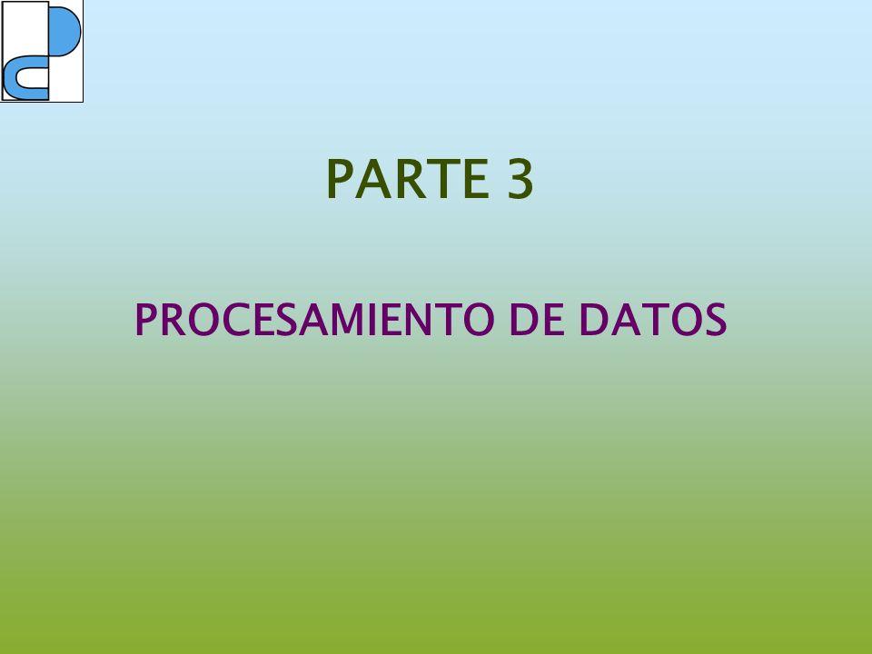 PARTE 3 PROCESAMIENTO DE DATOS