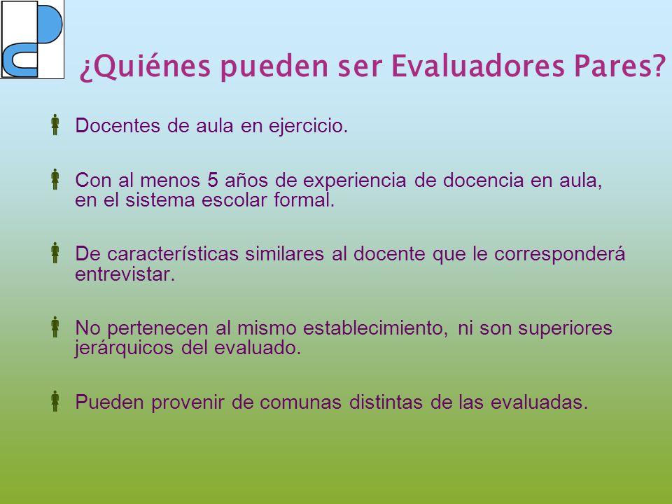 Selección Evaluadores Pares El proceso de selección de Evaluadores Pares está a cargo de CPEIP.