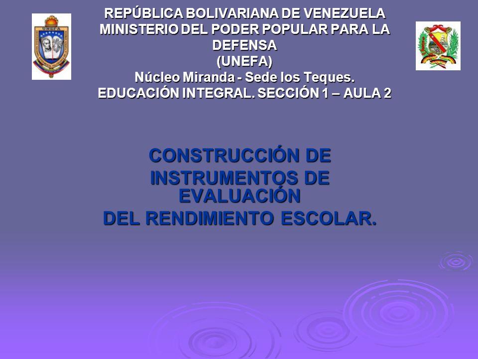 REPÚBLICA BOLIVARIANA DE VENEZUELA MINISTERIO DEL PODER POPULAR PARA LA DEFENSA (UNEFA) Núcleo Miranda - Sede los Teques.