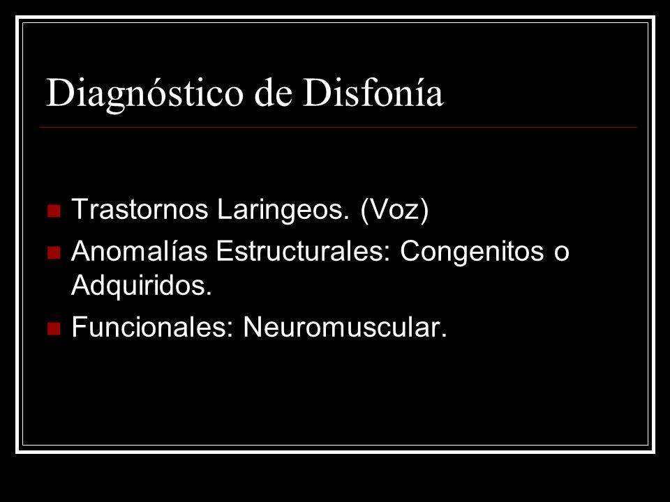 Diagnóstico de Disfonía Trastornos Laringeos.