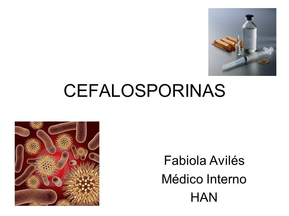 CEFALOSPORINAS DE 5a GENERACIÓN Ceftobiprol Uso parenteral (Canadá y Suiza).