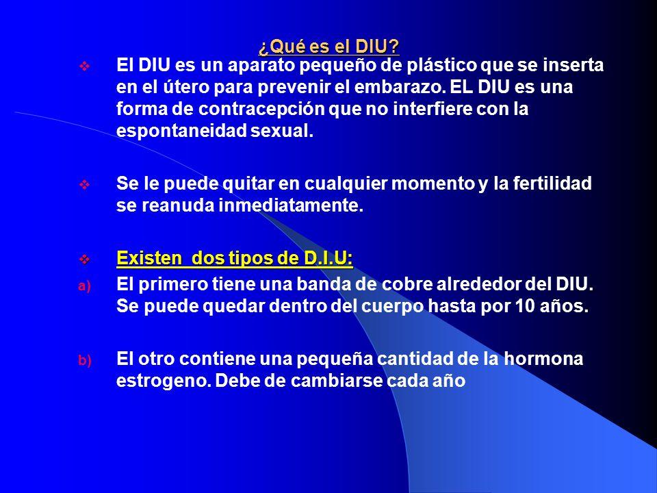 D.I.U Después de un parto por cesárea ¿cuánto tiempo debe esperar una usuaria para que le inserten un DIU.