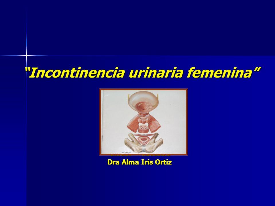 Incontinencia urinaria femenina Gíneco – Obstetra Dra Alma Iris Ortiz