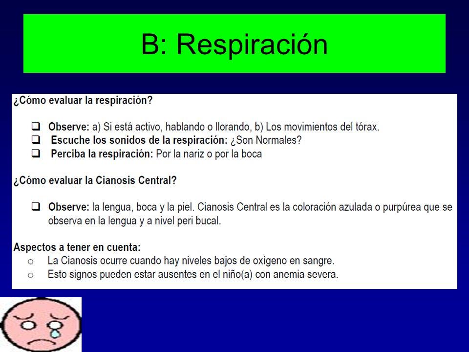 B: Respiración