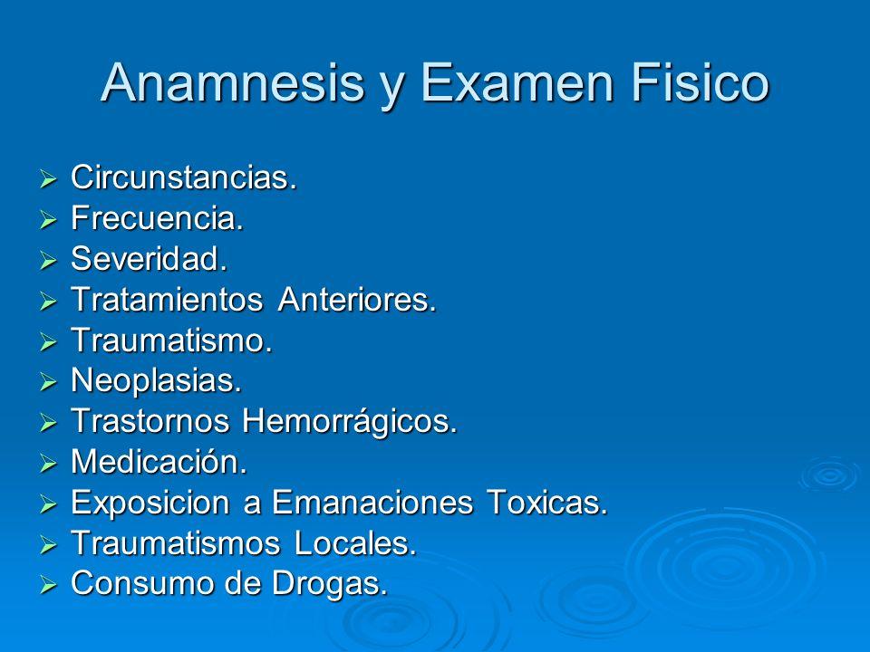 Anamnesis y Examen Fisico Circunstancias.Circunstancias.