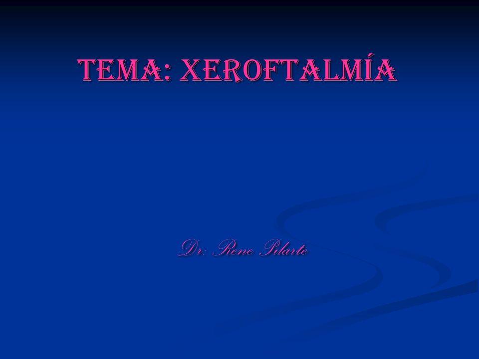 Tema: Xeroftalmía Dr: Rene Pilarte Dr: Rene Pilarte