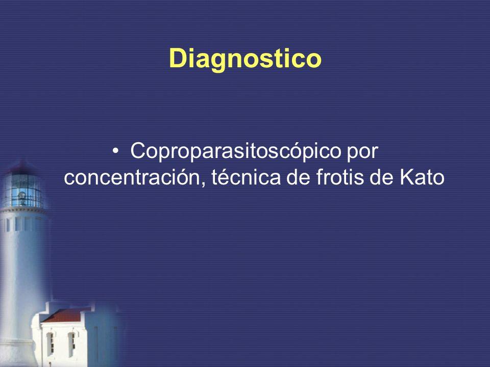 Diagnostico Coproparasitoscópico por concentración, técnica de frotis de Kato