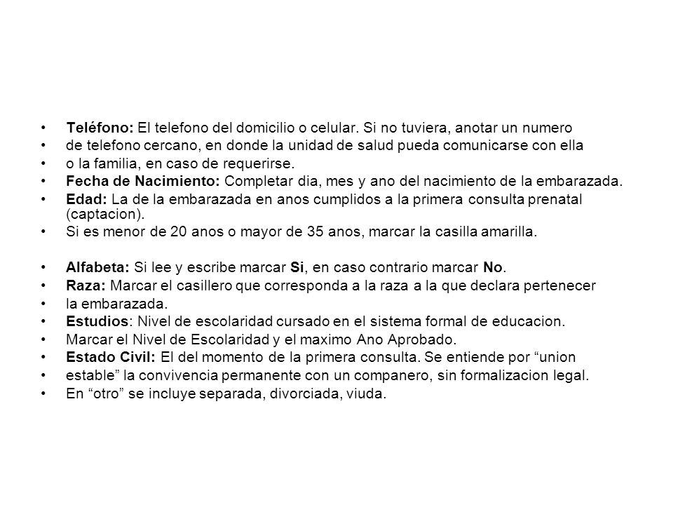 SEGMENTO - ANTECEDENTES FAMILIARES, PERSONALES Y OBSTÉTRICOS