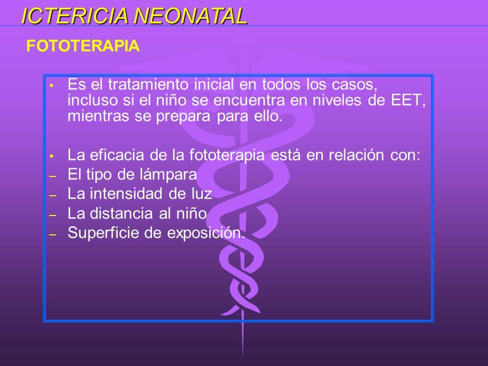 Es el tratamiento inicial en todos los casos, incluso si el niño se encuentra en niveles de EET, mientras se prepara para ello. La eficacia de la foto