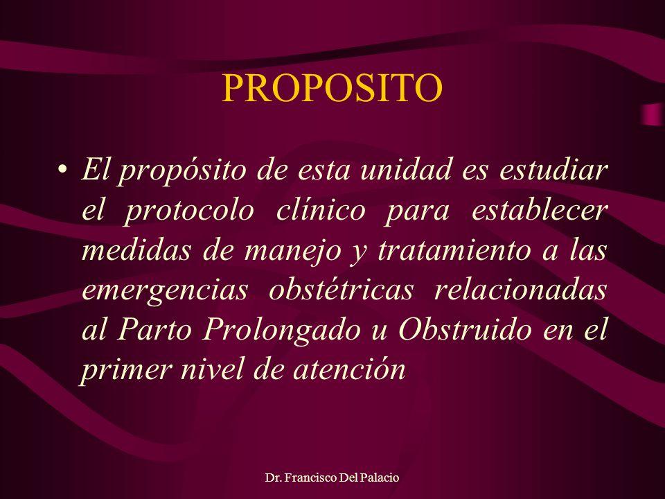 Dr.Francisco Del Palacio PARTOGRAMA Toda paciente en trabajo de parto debe tener un partograma.