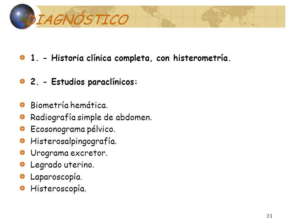 Diagnóstico El diagnostico de los miomas es: Clínico Ocasional Por medio de imagen