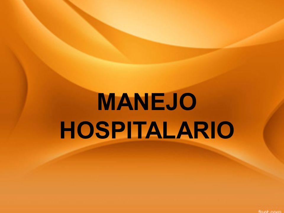 MANEJO HOSPITALARIO