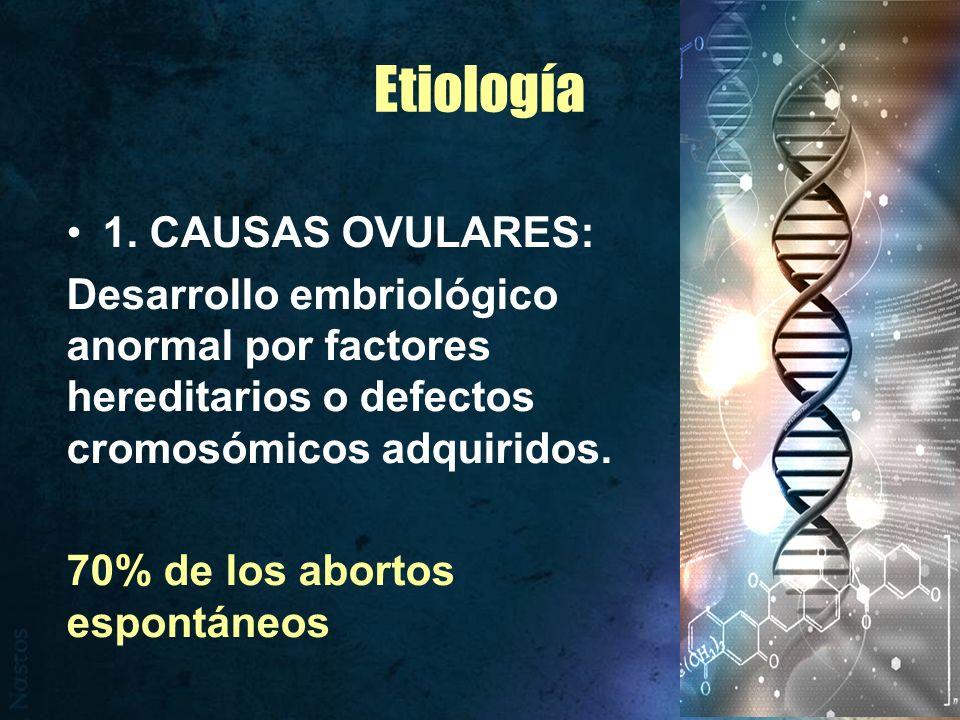 2.CAUSAS MATERNAS ORGÁNICAS : ENFERMEDADES GENERALES: TB, Toxoplasmosis, Enf.