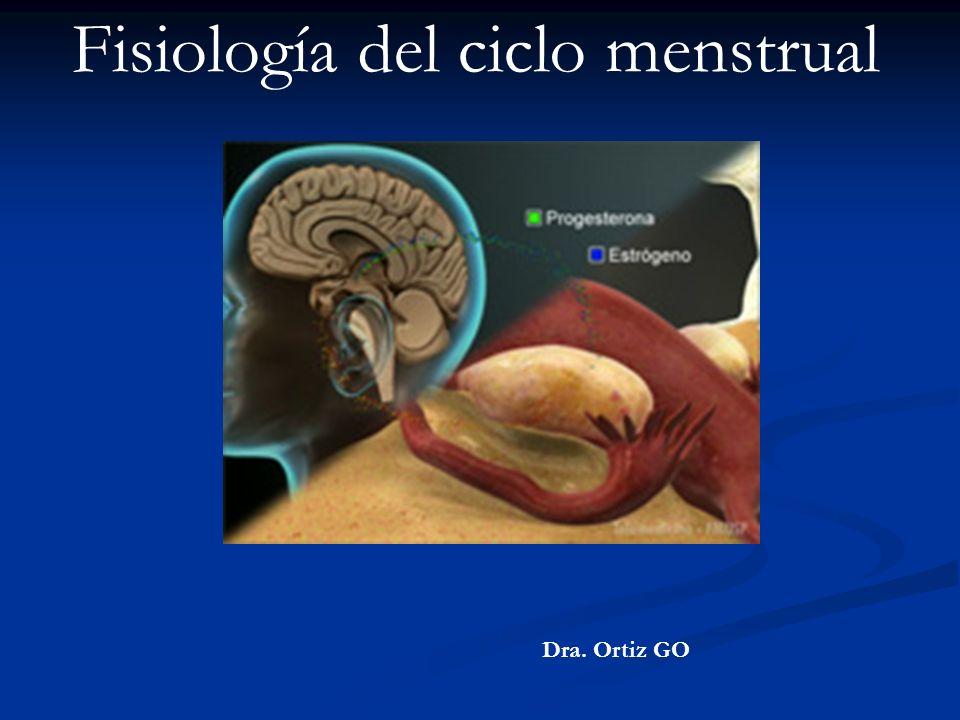 Fisiología del ciclo menstrual Dra. Ortiz GO