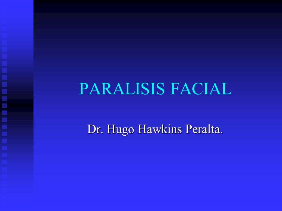 La paralisis del VII par craneal constituye la lesion nerviosa periferica mas frecuente posiblemente por su largo recorrido intraoseo de mas o menos 3 cm, el 90% se lesiona en este trayecto.