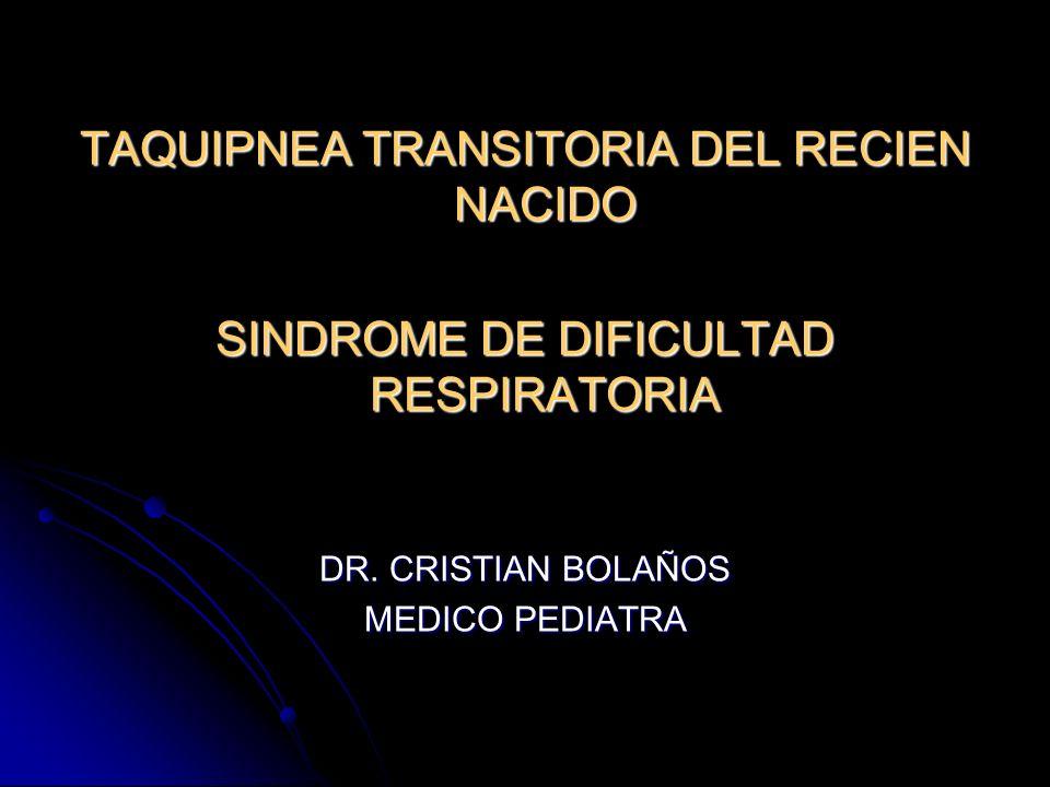TTRNDefinición: Síndrome que se presenta inmediatamente después del nacimiento, en RNT o preterminos cercanos al termino.