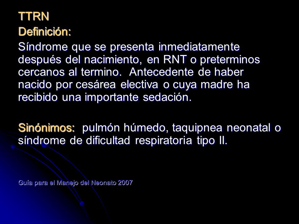 Incidencia: Se reportan 40% de síndromes de dificultad respiratoria del RN 11/1000 NV.