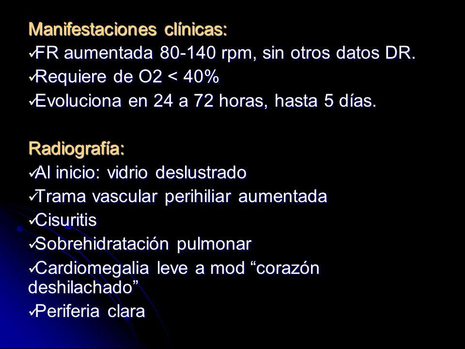 Tratamiento: O2 por cámara cefálica O2 por cámara cefálica Control de gases sanguíneos (acidosis resp.