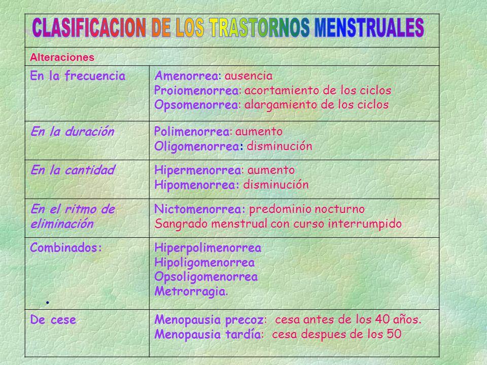 Trastornos Menstruales § De aparición: Menarquia precoz: Menarquia tardía: § De aparición: a) Menarquia precoz: En casos de pubertad precoz esencial la ovulación y menstruación aparecen antes de lo 9 años.