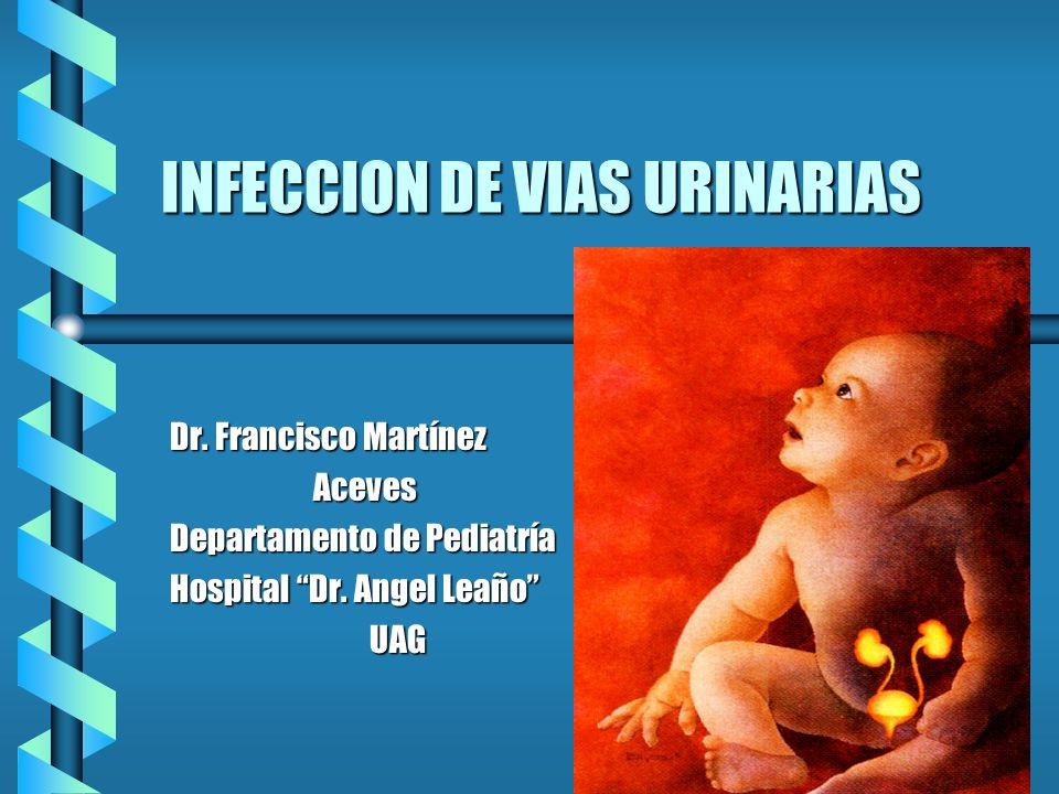 INFECCION DE VIAS URINARIAS Dr. Francisco Martínez Aceves Aceves Departamento de Pediatría Hospital Dr. Angel Leaño UAG UAG