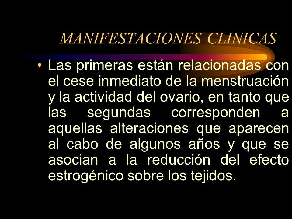 Menopausia y Climatério Diagnóstico: Se realiza retrospectivamente, lo que significa que al pasar uño sin menstruación, de esta manera queda diagnósti