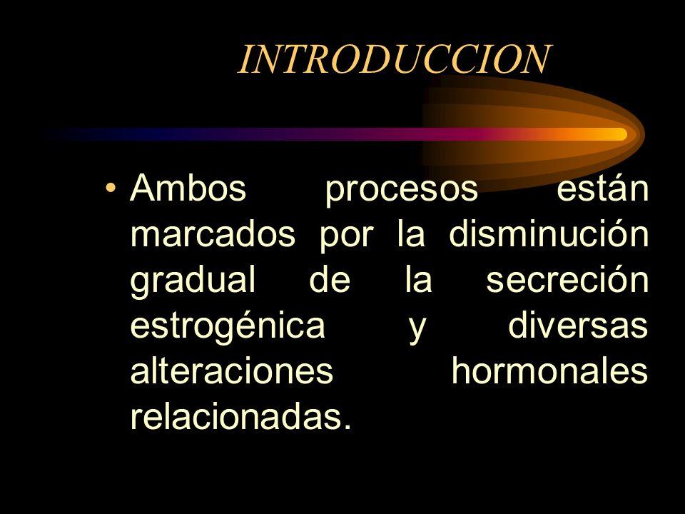 INTRODUCCION El climaterio es el período de transición entre los últimos años de la etapa reproductiva y la vida post reproductiva, que se inicia con