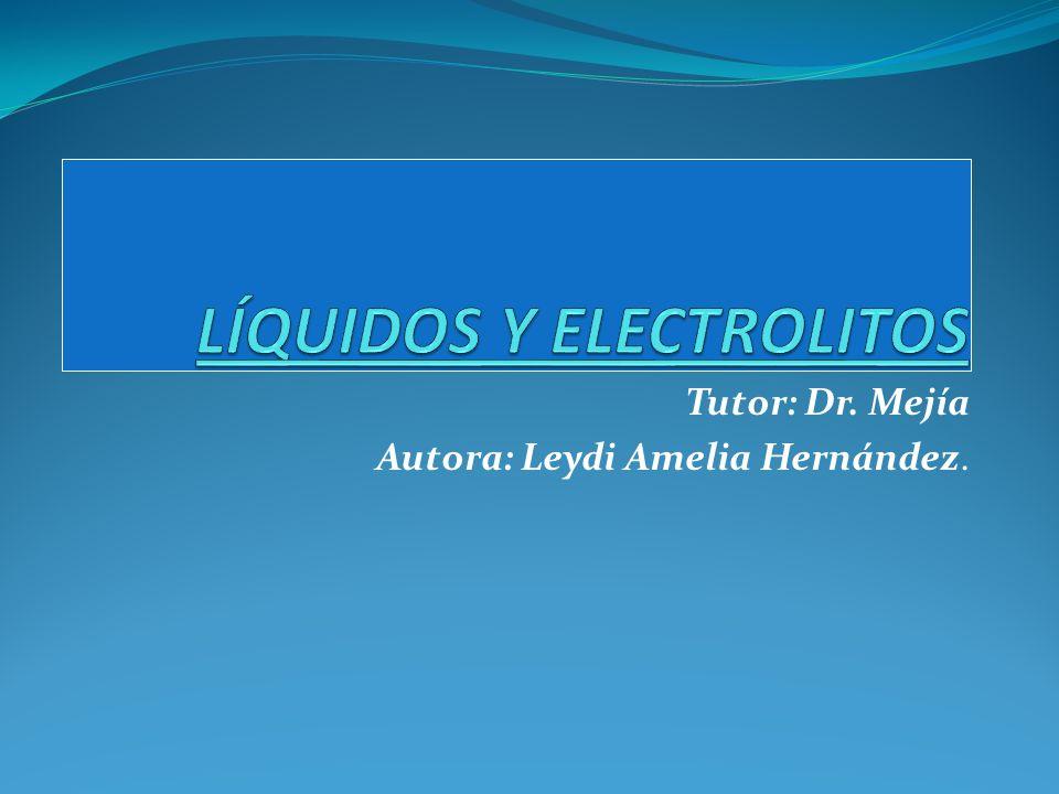 Terapia con liquidos y electrolitos Depende del volumen del pte, y el tipo de anormalidad de [].