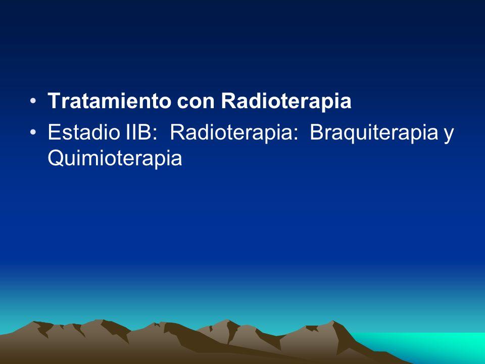 Tratamiento con Radioterapia Estadio IIB: Radioterapia: Braquiterapia y Quimioterapia