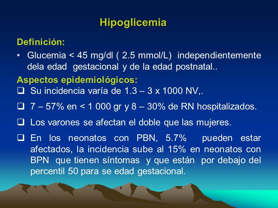 glucosa recien nacido: