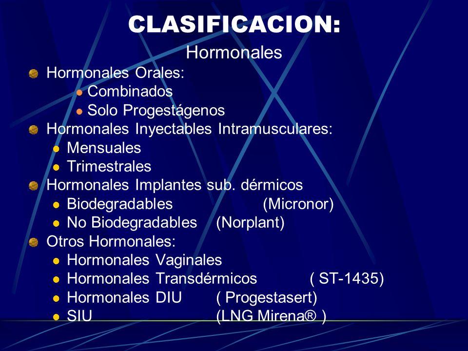 METODOS ANTICONCEPTIVOS HORMONALES. DEFINICION: Son substancias o combinación de substancias esteroideas (Estrógenos y /o Progestágenos), cuya adminis