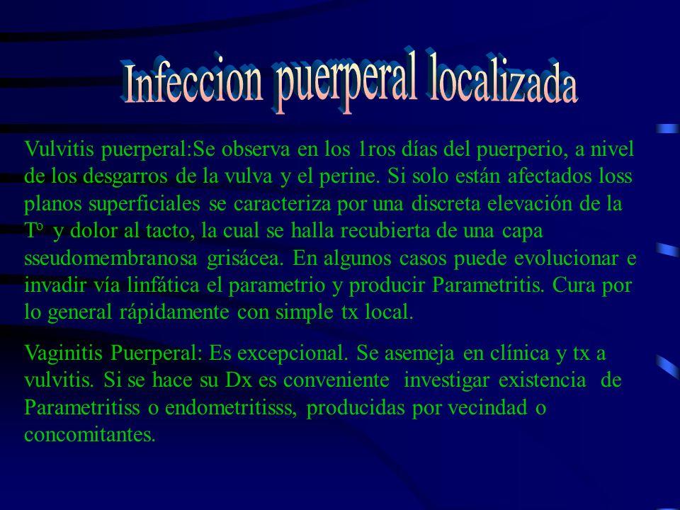 - ENDOMETRITIS: Concepto: Es la forma más común de la infecciones del puerperio y se relaciona con la invasión de la decidua por gérmenes patógenos.