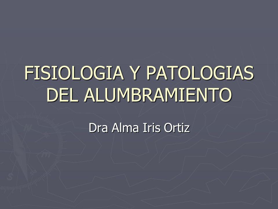 FISIOLOGIA Y PATOLOGIAS DEL ALUMBRAMIENTO Dra Alma Iris Ortiz