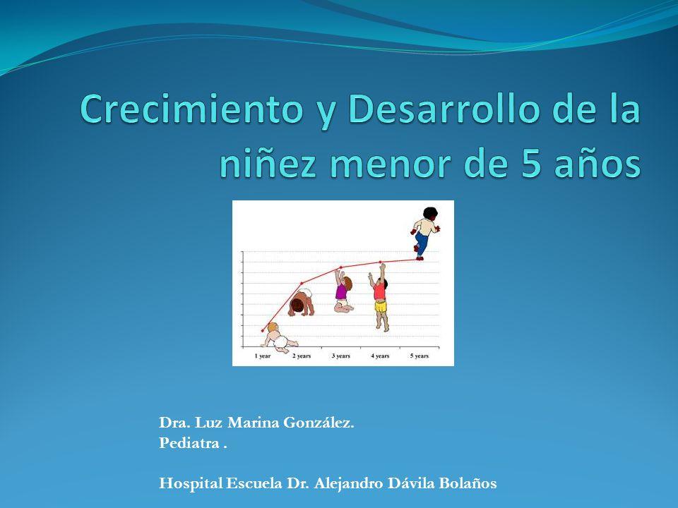 Crecimiento y Desarrollo de la niñez menor de 5 años La mortalidad en la niñez menor de 5 años, constituye uno de los principales problemas de salud en Nicaragua.