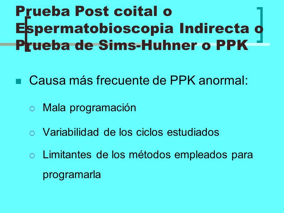 Causa más frecuente de PPK anormal: Mala programación Variabilidad de los ciclos estudiados Limitantes de los métodos empleados para programarla Prueb