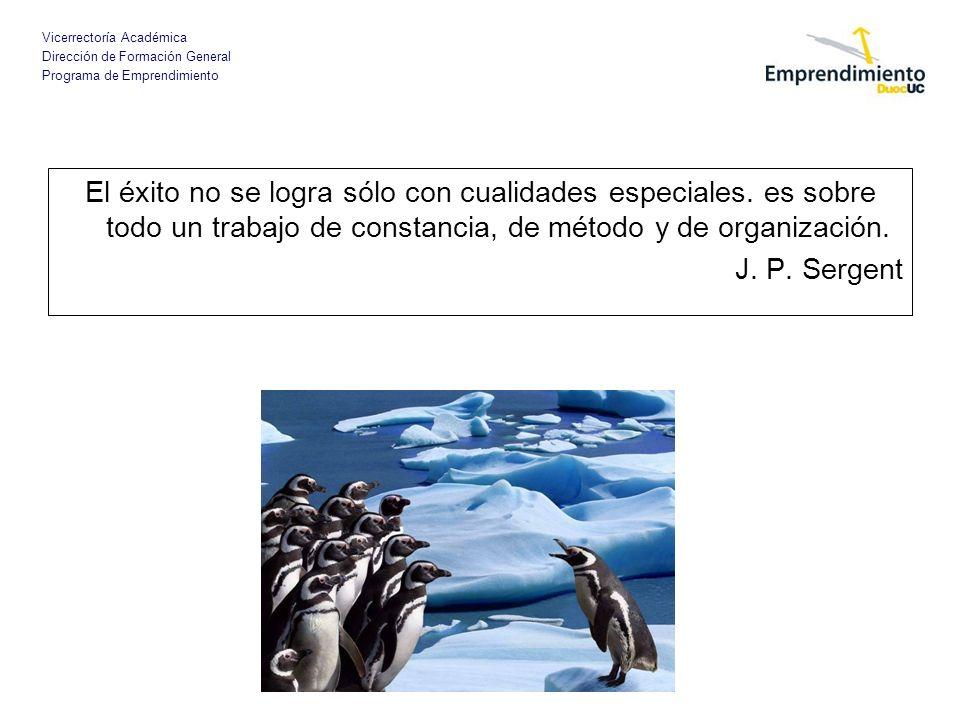 Vicerrectoría Académica Dirección de Formación General Programa de Emprendimiento El éxito no se logra sólo con cualidades especiales. es sobre todo u